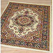 Origin Red Classique Ivory / Black Rug - Runner 230cm x 80cm