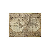 Linea Vintage Style Map Wall Art