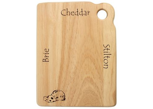 T&G Woodware Ltd 15cm Cheese Board in Hevea with Printed Graphics