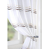 Waves Voile Curtain Panel - Beige