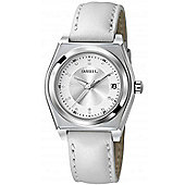 Breil Ladies Silver Dial White Leather Strap Watch TW0931