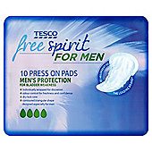 Tesco Free Spirit For Men Incontinence Pads - 10 Pack