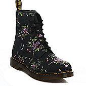 Dr. Martens Womens Black Belladonna Castel Floral Boots - Black