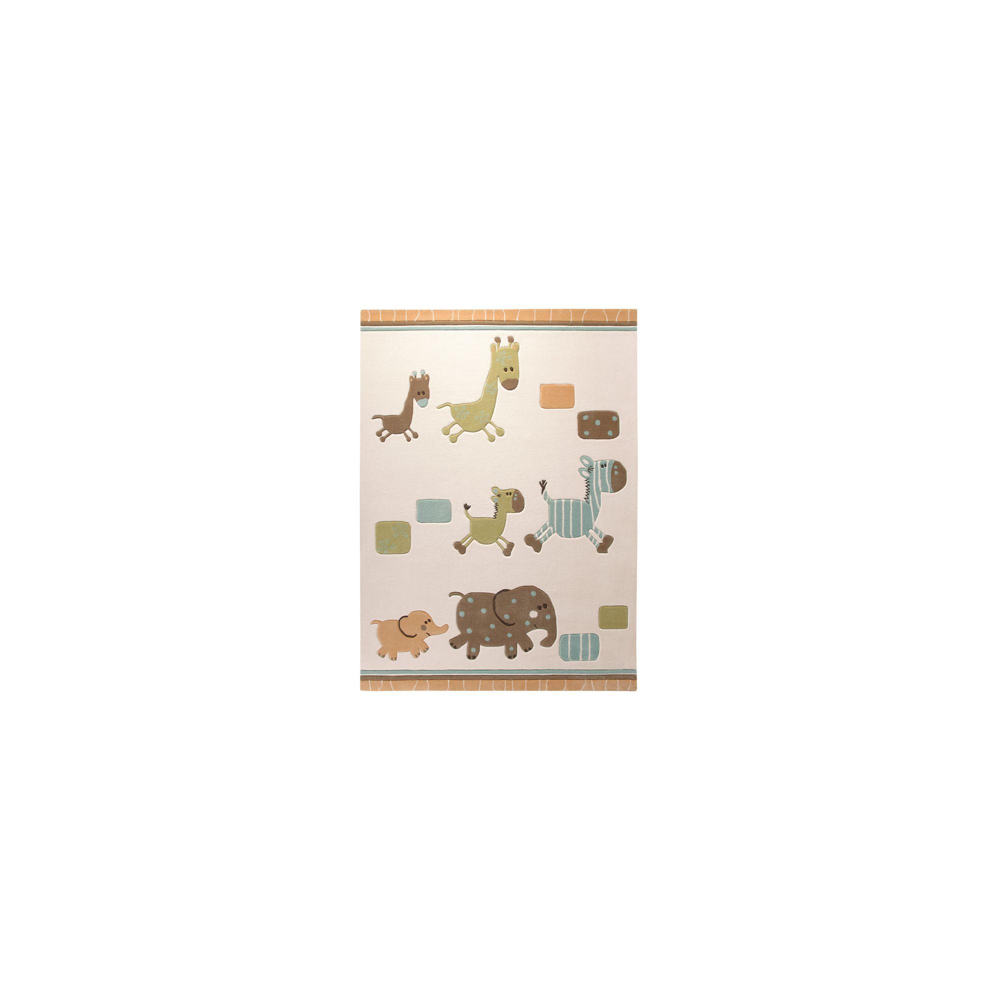 Esprit Lucky Zoo Beige Kids Rug - 90cm x 160cm