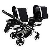 Bebecar One & Two Magic Tandem Convertible Pushchair (Black Magic)
