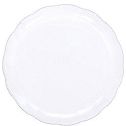 White Round Tray - 30cm Plastic