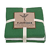Now Designs Floursack Teatowels, Verde Green, Set of 3
