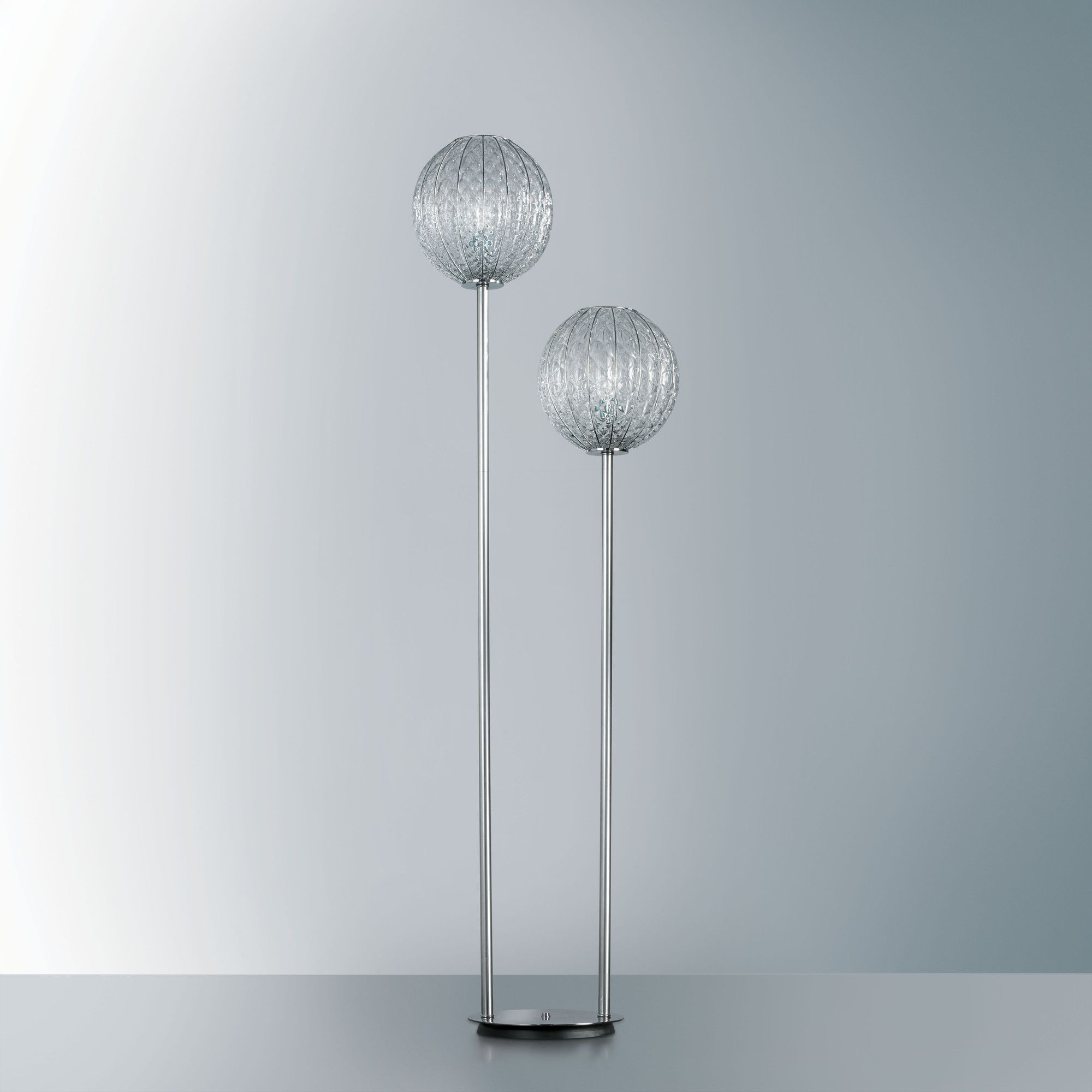 Siru Retro One Light Floor Lamp In Crystal Baloton