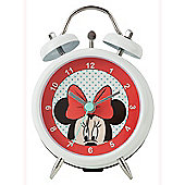 Minnie Mouse Twin Bell Alarm Clock White