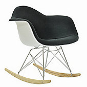 Eames Replica Chair RAR White With Grey Padded Seat