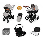 Ickle Bubba Stomp V3 AIO Travel System/Mosquito Net Silver (Silver Chassis)