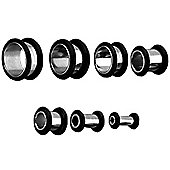 Urban Male Pack of Seven Stainless Steel Ear Stretching Flat Flesh Tunnels