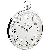 Tesco Fob Wall Clock Silver Dia. 35cm