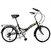 "Stowabike 20"" Folding City V2 Compact Foldable Bike -6 Speed Shimano Gears Black"