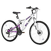 "Vertigo Monteaux 24"" Dual Suspension Mountain Bike, White"