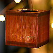 FeelGood Bamboo Square and Round Solar Lamps (Set of 2)