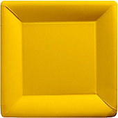 Yellow Square Plates - 26cm Paper Party Plates
