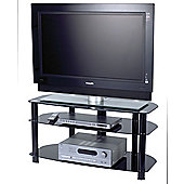 Alphason Sona Series Alpha TV Stand - Black - 42""