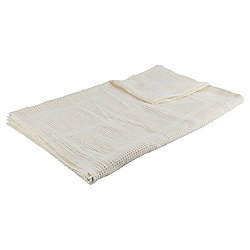Tesco Cellular Pram Blanket, Cream
