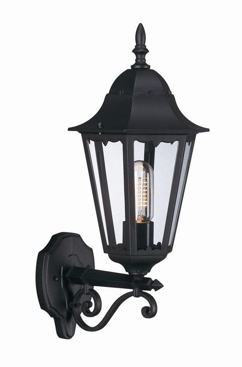 Massive Zagreb 52cm One Light Outdoor Wall Lantern in Black