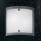 Linea Light Nove 99 Two Light Flush Ceiling/Wall Light in Brushed Nickel - 30cm H x 30cm W x 8cm D