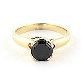 QP Jewellers Black Diamond Solitaire Ring in 14K Gold