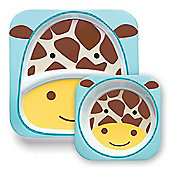 Skip Hop Zoo Tabletop Plate & Bowl Set - Giraffe