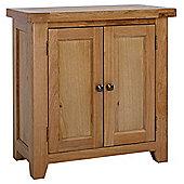 Rustic Grange Devon Oak 2 Door Cupboard
