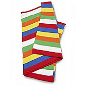 Baroo Luxury Striped Knitted Pram Blanket (Multicoloured)