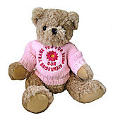 Thank You Bridesmaid Bear with Pink Flower Jumper