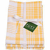 Now Designs Colour Centre Jumbo Tea Towels, Lemon Yellow, Pack of 3