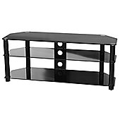 Peerless Hudson F-HUD1200/BK Black Glass TV Stand