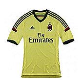 2014-15 AC Milan Adidas 3rd Football Shirt - Gold