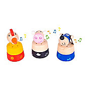 Bigjigs Toys BJ975 Noisy Animal (Pack of 2 - Designs Vary)