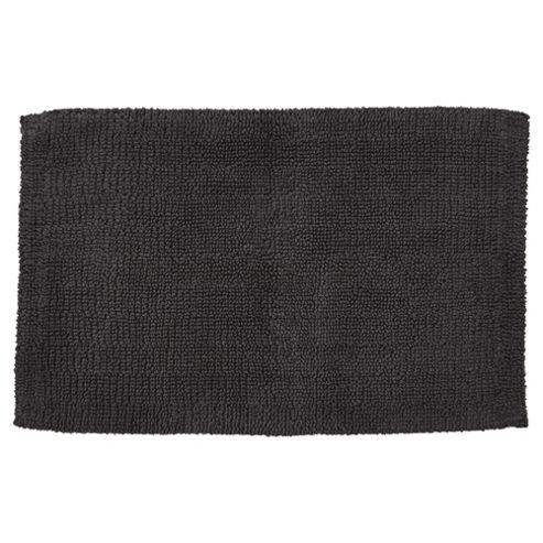 buy hygro cotton grey reversible bath mat from our bath. Black Bedroom Furniture Sets. Home Design Ideas