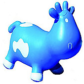 Betsy Inflatable Cow Space Hopper - Blue & White