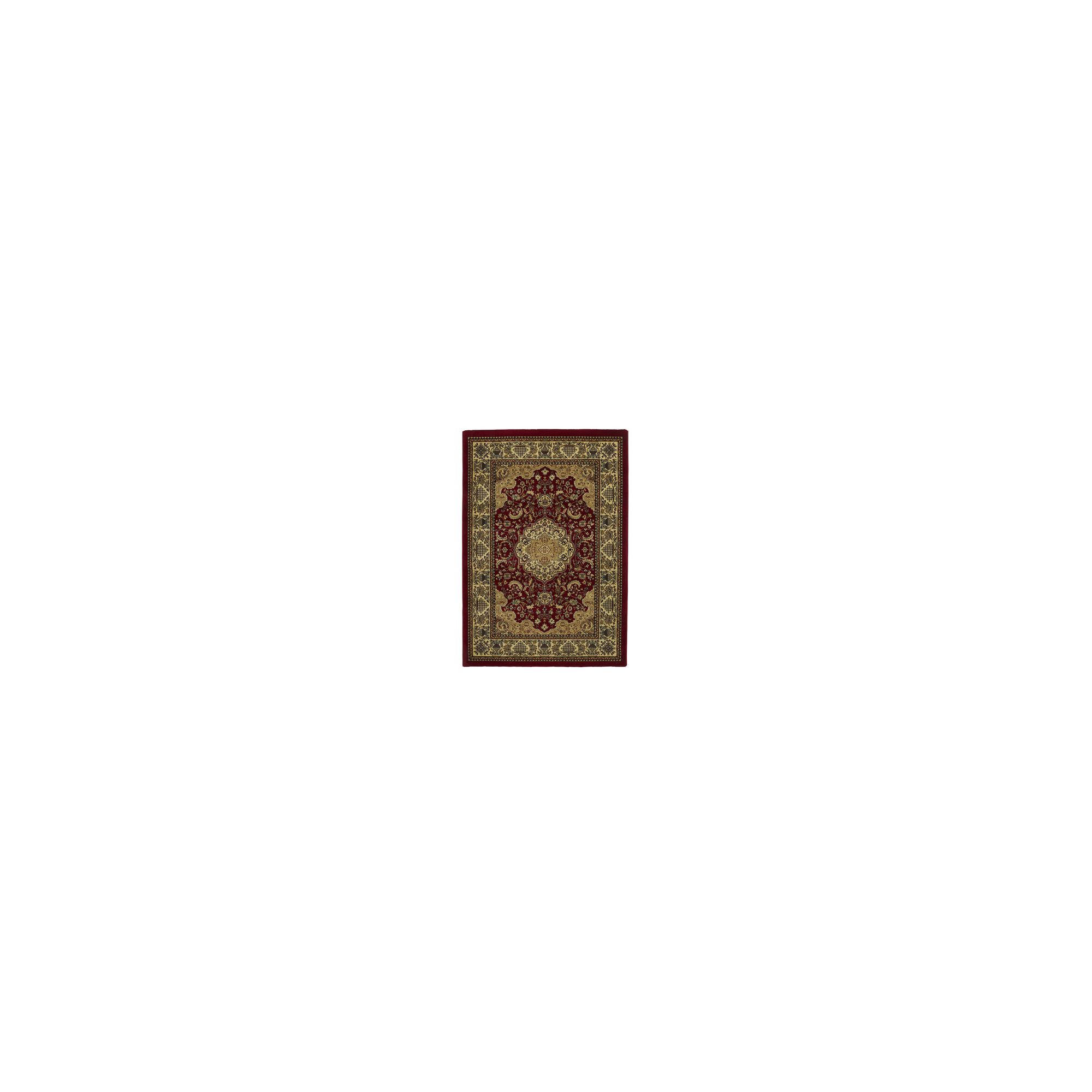 Oriental Carpets & Rugs Heritage 02A Red Rug - 280cm x 380cm at Tesco Direct