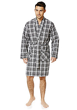 F&F Woven Dressing Gown - Black