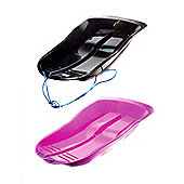 Set Of Two Delta Sled / Sledges (One Black, One Pink)