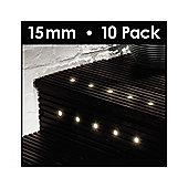 MiniSun Pack of 10 LED 15mm Decking Lights in White