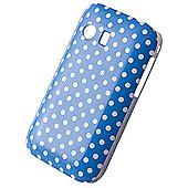 Tortoise™ Hard Case Samsung Galaxy Y Blue Polka Dot
