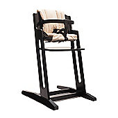 Black BabyDan Danchair High Chair & Beige Comfort Cushion