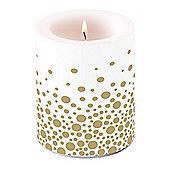 Ambiente 10 x 12cm Pillar Candle, Sparkling Dots Gold
