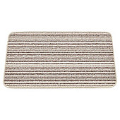 Mrs Mat Merino Cream stripe Indoor Mat  45 x 75