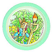 Petit Jour Peter Rabbit Plate Green