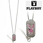 Pink Rectangular Bunny Head Necklace Lanyard