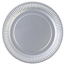 TESCO Silver PAPER PLATES 23CM 8 PACK