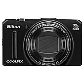 "Nikon Coolpix S9700 Digital Camera, Black, 16MP, 30x Optical Zoom, 3"" OLED Screen, Wi-Fi"