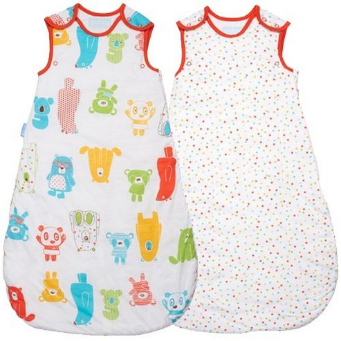 Grobag Twin Pack Spotty Bear 1 Tog Sleeping Bags (18-36 Months)