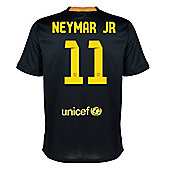2013-14 Barcelona Third Shirt (Neymar JR 11) - Kids - Black